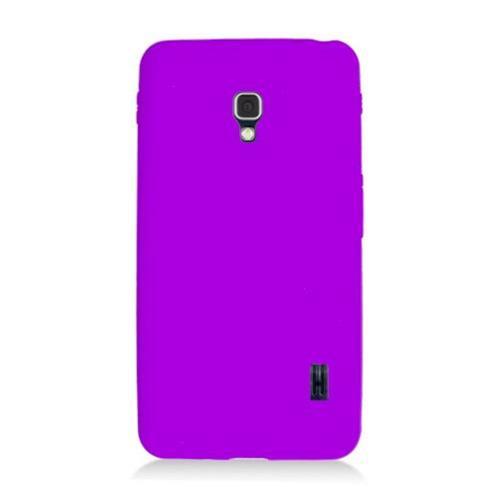 Insten Rubber Cover Case For LG Optimus F6 MS500, Purple