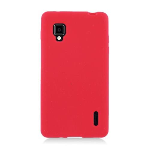 Insten Soft Rubber Cover Case For LG Optimus G LS970 Sprint, Red