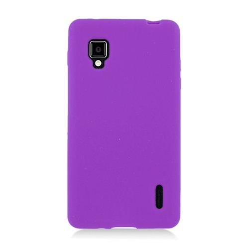 Insten Gel Rubber Cover Case For LG Optimus G LS970 Sprint, Purple