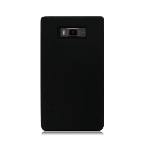 Insten Silicone Rubber Case For LG Splendor US730 / Venice LG730, Black