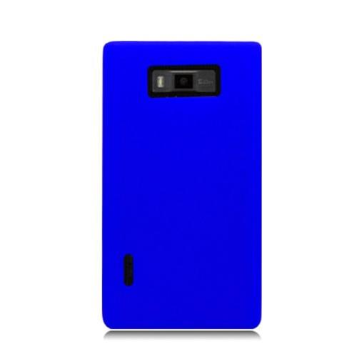 Insten Rubber Cover Case For LG Splendor US730 / Venice LG730, Blue