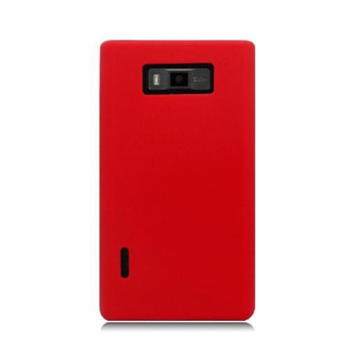 Insten Gel Rubber Cover Case For LG Splendor US730 / Venice LG730, Red