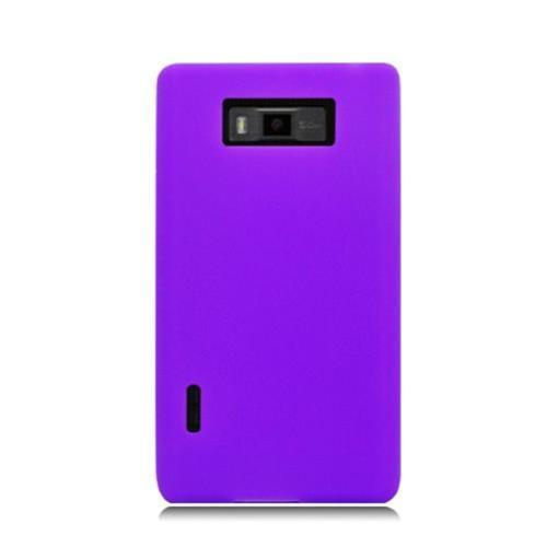 Insten Gel Rubber Case For LG Splendor US730 / Venice LG730, Purple