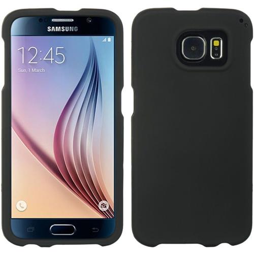 Insten Hard Rubberized Case For Samsung Galaxy S6, Black