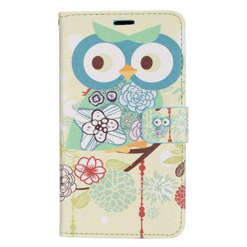 Insten Owl Folio Leather Fabric Cover Case w/stand/card slot For LG K3 (2016), Blue/Green