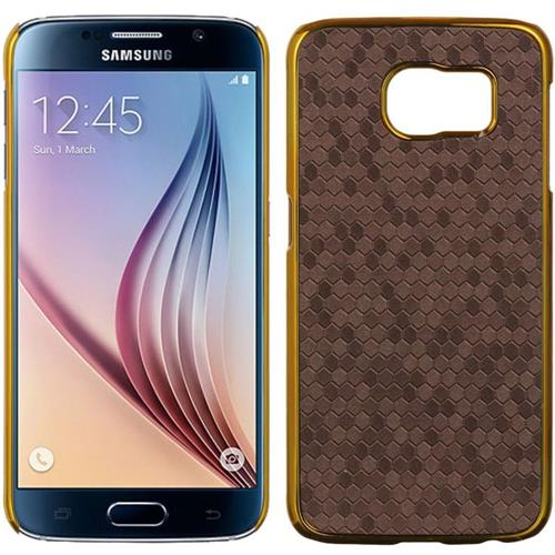 Insten Honeycomb Hard Cover Case For Samsung Galaxy S6, Purple/Gold