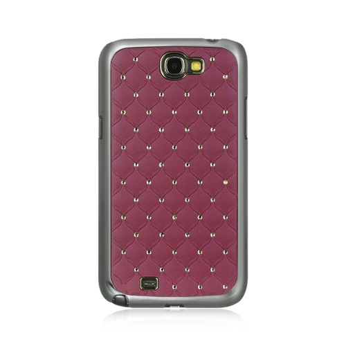 Insten Fish Scale Hard Cover Case w/Diamond For Samsung Galaxy Note II, Purple