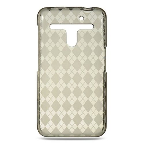 Insten Checker Gel Case For LG Esteem/Revolution, Smoke