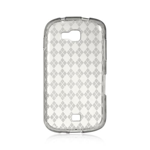Insten Checker Gel Cover Case For Samsung Galaxy Axiom, Smoke