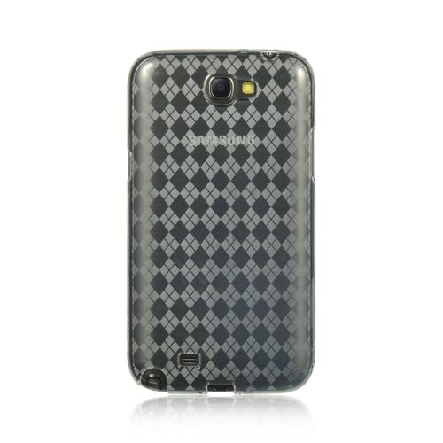 Insten Checker Gel Case For Samsung Galaxy Note II, Gray