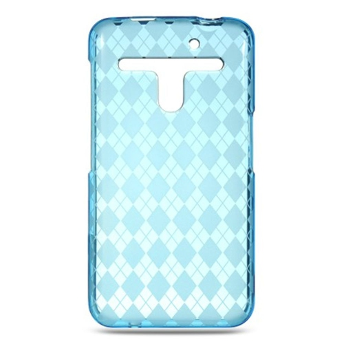Insten Checker Rubber Case For LG Esteem/Revolution, Blue