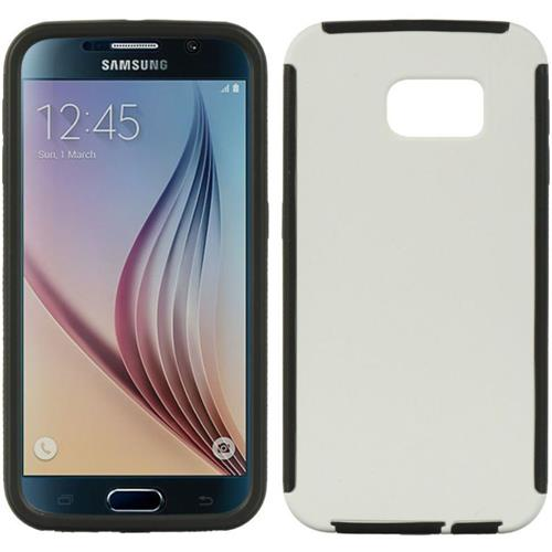 Insten Wrap Up Gel Case w/Installed For Samsung Galaxy S6, White/Black