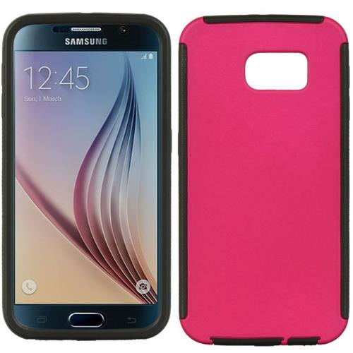 Insten Wrap Up TPU Cover Case w/Installed For Samsung Galaxy S6, Hot Pink/Black