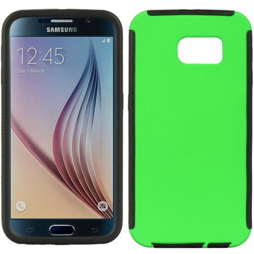 Insten Wrap Up Rubber Cover Case w/Installed For Samsung Galaxy S6, Green/Black