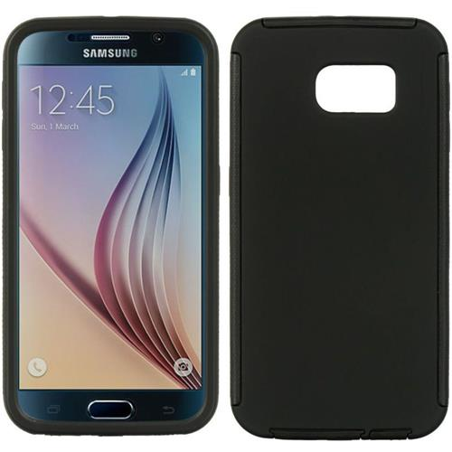 Insten Wrap Up Rubber Cover Case w/Installed For Samsung Galaxy S6, Black