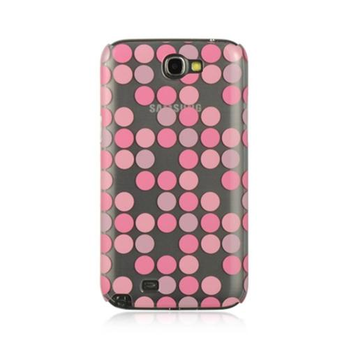 Insten Polka Dots Hard Case For Samsung Galaxy Note II, Pink