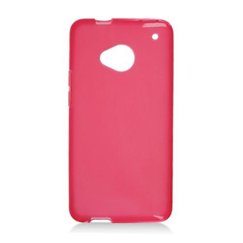Insten Frosted Rubber Cover Case For HTC One, Red