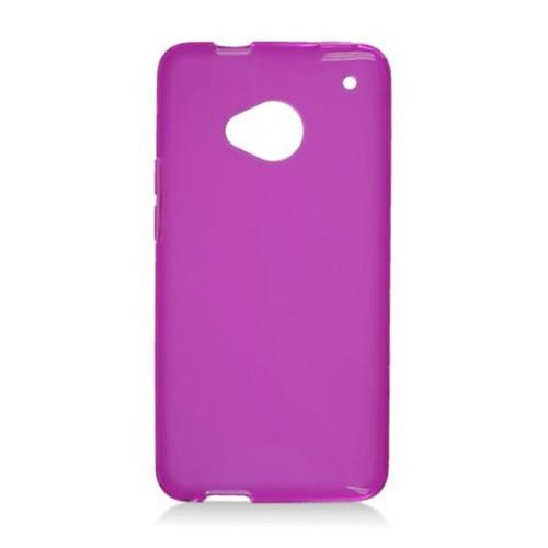 Insten Frosted Rubber Case For HTC One, Purple