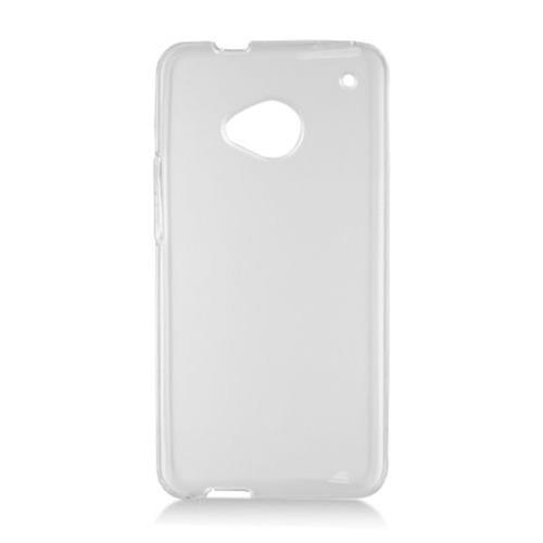 Insten Frosted Rubber Cover Case For HTC One, Clear