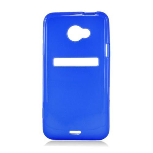 Insten Frosted Rubber Case For HTC EVO 4G LTE, Blue