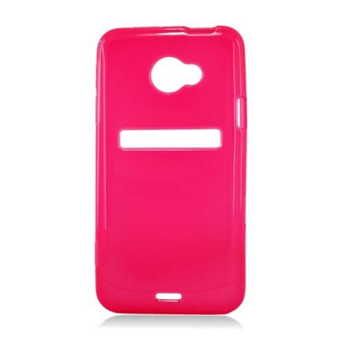 Insten Frosted Rubber Case For HTC EVO 4G LTE, Red