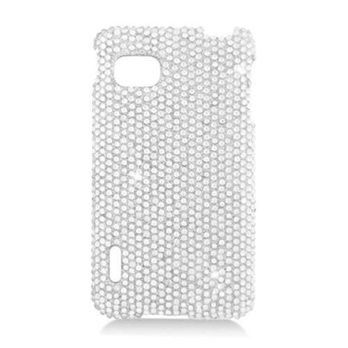 Insten Hard Bling Case For LG Optimus F3 LS720, Silver