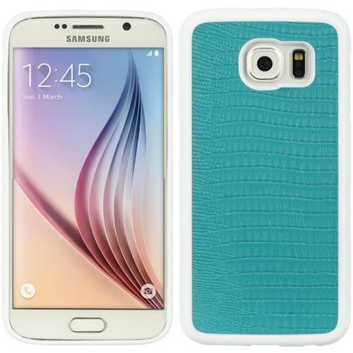 Insten Crocodile Gel Skin Case For Samsung Galaxy S6, Blue/White