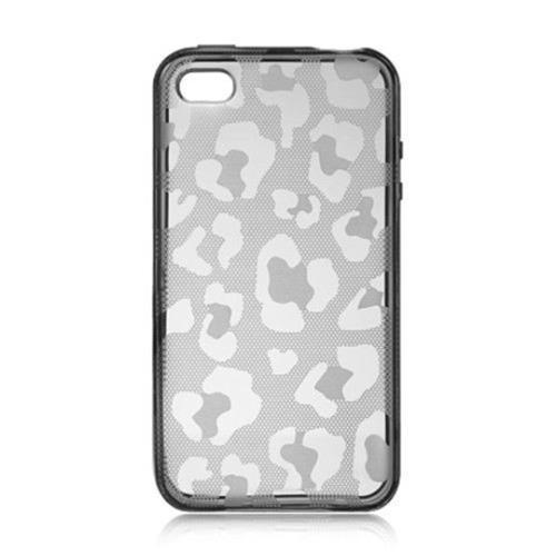 Insten Leopard Gel Case For Apple iPhone 4/4S, Smoke
