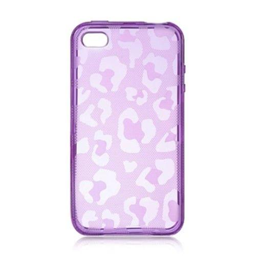 Insten Leopard Rubber Case For Apple iPhone 4/4S, Purple