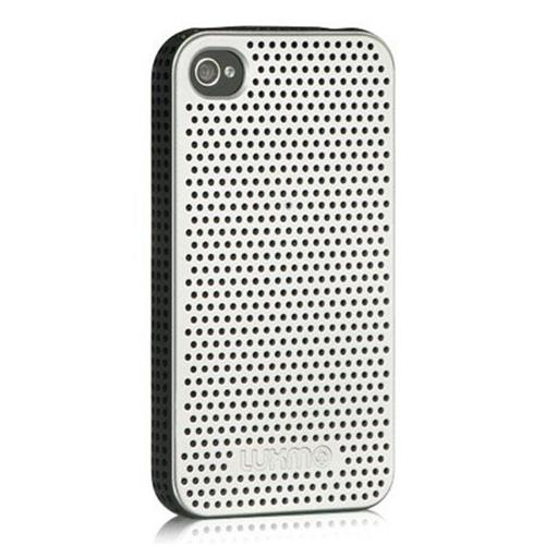 Insten Mesh TPU Cover Case For Apple iPhone 4/4S, Silver/Black