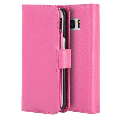 Insten Flip Leather Case w/stand/card holder/Photo Display For Samsung Galaxy S7 Edge, Hot Pink