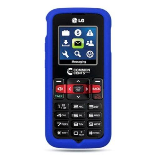 Insten Gel Rubber Cover Case For LG 101/102, Blue