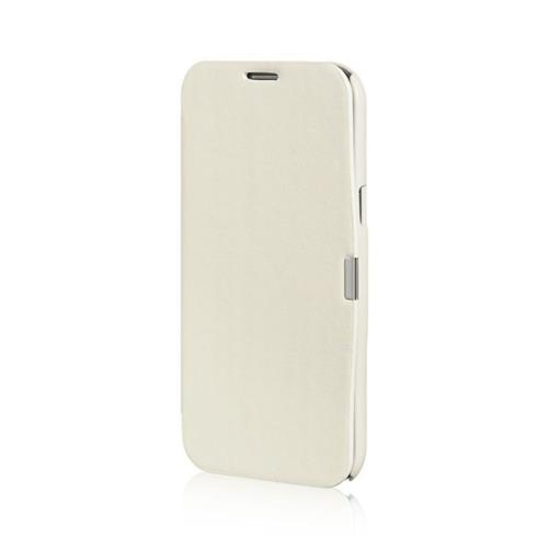 Insten Flip Leather Fabric Cover Case For Samsung Galaxy Note II, White
