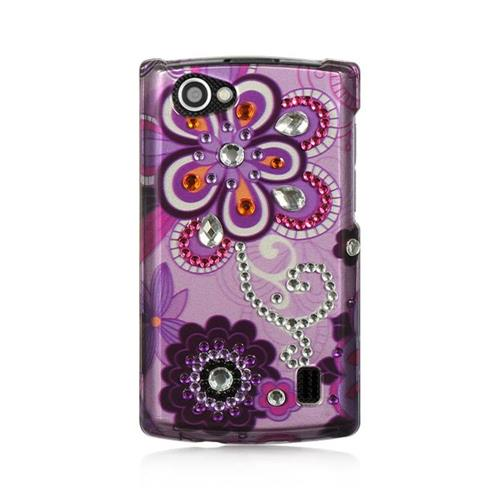 Insten Violet Hard Case For LG Optimus M+, Purple