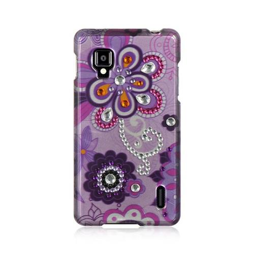 Insten Violet Hard Case For LG Optimus G LS970 Sprint, Purple