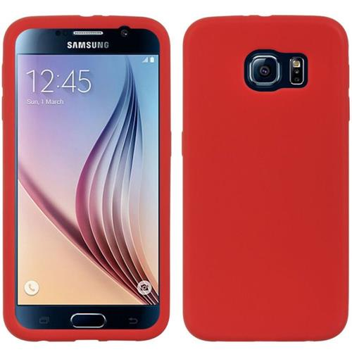 Insten Rubber Case For Samsung Galaxy S6, Red