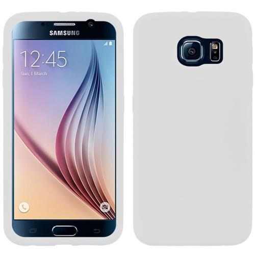 Insten Rubber Cover Case For Samsung Galaxy S6, White