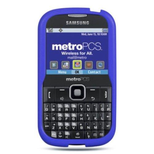 Insten Rubber Cover Case For Samsung Freeform III R380, Blue