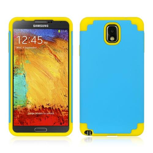 Insten Hard Hybrid TPU Case For Samsung Galaxy Note 3, Blue/Yellow