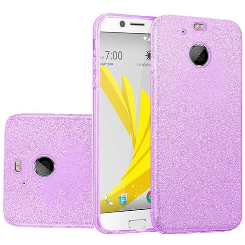 Insten Hard Hybrid Glitter TPU Case For HTC 10 EVO / Bolt, Purple
