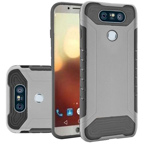 Insten Fitted Soft Shell Case for LG G6 - Black; Silver