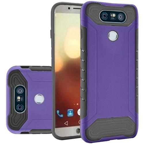 Insten Hard TPU Cover Case For LG G6, Purple/Black