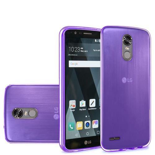 Insten Frosted Gel Case For LG Stylo 3/Stylo 3 Plus, Purple