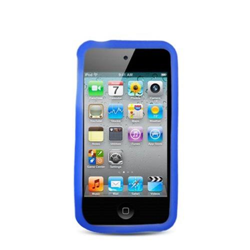 Insten Skin Rubber Cover Case For Apple iPhone 4/4S, Blue