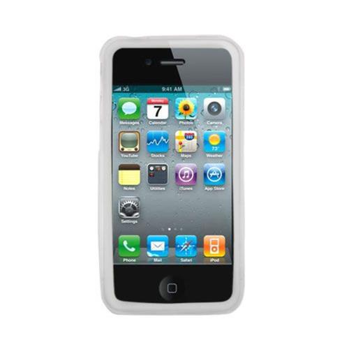 Insten Silicone Rubber Case For Apple iPhone 4/4S, Clear