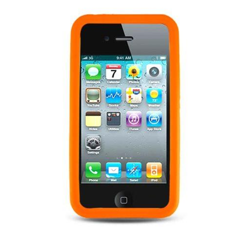 Insten Rubber Case For Apple iPhone 4, Orange