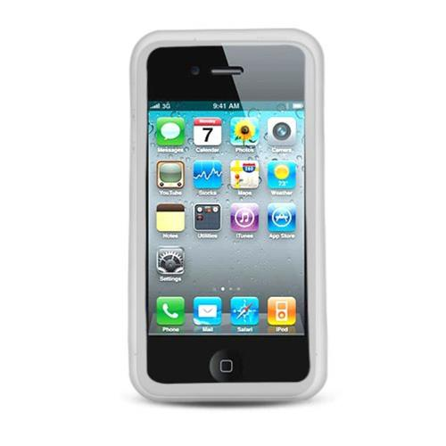 Insten Silicone Rubber Cover Case For Apple iPhone 4, Clear