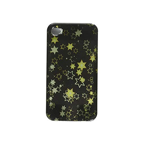 Insten Stars Hard Case For Apple iPhone 4/4S, Black/Yellow
