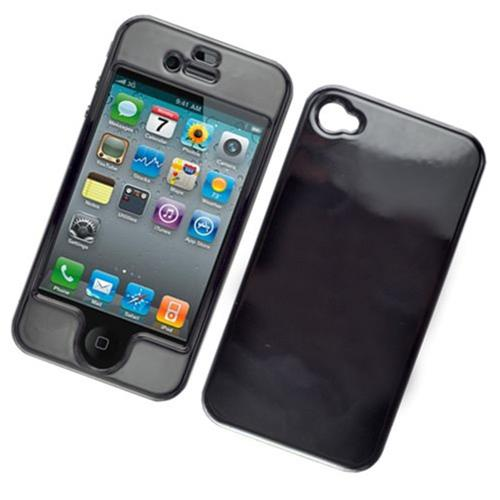 Insten Hard Cover Case For Apple iPhone 4/4S, Black
