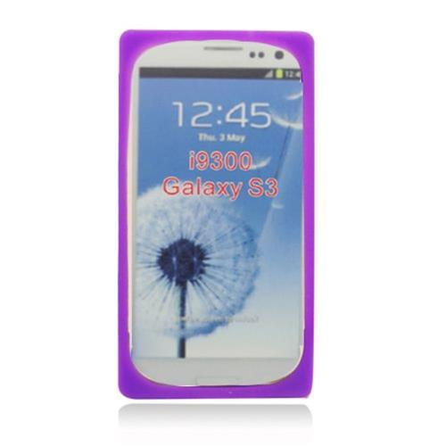 Insten Cassette Tape Skin Rubber Cover Case For Samsung Galaxy S3, Purple